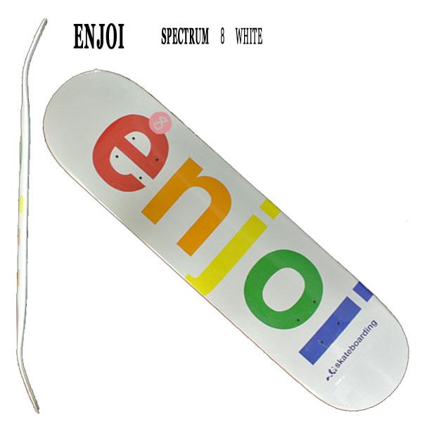 SPECTRUM WHITE 8.0 ENJOI/エンジョイ スケートボードデッキ/DECK スケボーSK8_02P01Oct16