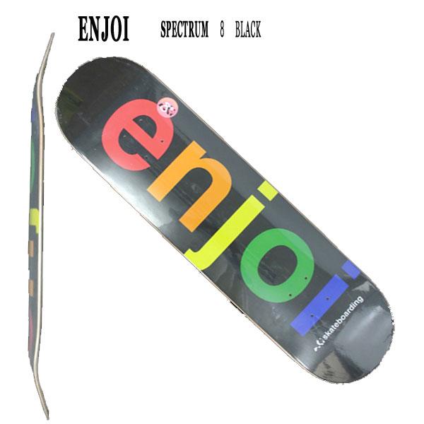 SPECTRUM BLACK 8.0 ENJOI/エンジョイ スケートボードデッキ/DECK スケボーSK8_02P01Oct16
