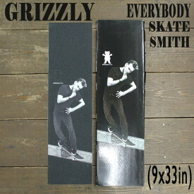 GRIZZLY/グリズリー【EVERYBODY SKATE SMITH】 9x33 BLACK グリップテープ/デッキテープ スケートボードデッキ用/DECK スケボーSK8