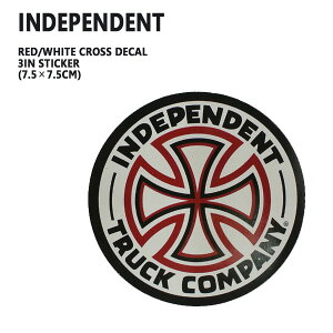 INDEPENDENT/インデペンデント RED/WHITE CROSS DECAL 3 STICKER/ステッカー シール スケボー