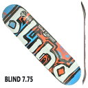 BLIND/ブラインド スケートボード デッキ WATER COLOR RHM RED/BLUE 7.75 DECK スケボーSK8