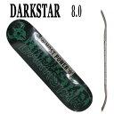 DARK STAR/ダークスター スケートボードデッキ VHS RHM MUTED GREEN 8.0 DECK スケボーSK8