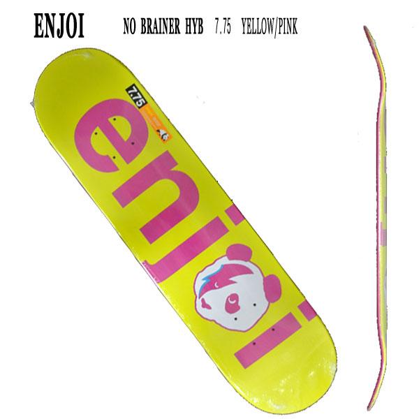 ENJOI/エンジョイ NO BRAINER HYB YELLOW/PINK 7.75 DECK SK8 スケートボード/スケボーデッキ