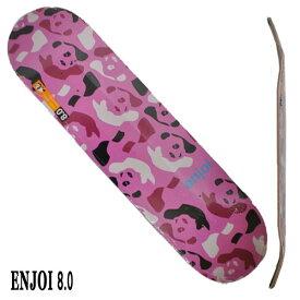 ENJOI/エンジョイ REPEATER HYB PINK/CAMO 8.0 DECK SK8 スケートボード/スケボーデッキ