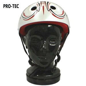 PRO-TEC/プロテック CLASSIC SKATE HELMET CABALLERO PINSTRIPE WHITE スケートヘルメット SKATEBOARDS SK8用 大人用 キャバレロ