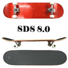 SDS/エスディーエス コンプリートスケートボード/スケボー DYED RED 8.0 COMPLETE SK8 [返品、交換及びキャンセル不可]