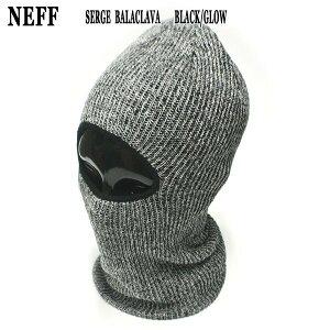 値下げしました!NEFF/ネフ SERGE BALACLAVA FACEMASK BLACK/GLOW フェイスマスク 目だし帽 ニット帽 メンズ スノーボード用 ネックウォーマー SNOW