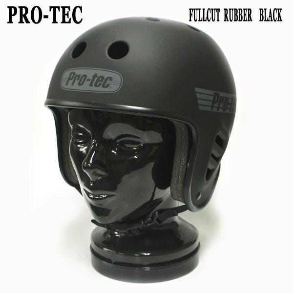 PRO-TEC/プロテック FULL CUT RUBBER SKATE HELMET BLACK スケートヘルメット SKATEBOARDS SK8用 大人用