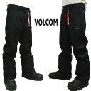 値下げしました!VOLCOM/ボルコム FREAKIN SNOW PANTS BLK メンズ 男性用 スノボ用パンツ スノボウェア スノーウェア …