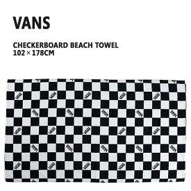 VANS/バンズ CHECKRBOARD BEACH TOWEL バスタオル ビーチタオル チェッカー