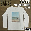 BANKS/バンクス AWAKE OFF WHITE メンズ L/S Tシャツ 長袖Tシャツ ロンT ロングスリーブ 男性用