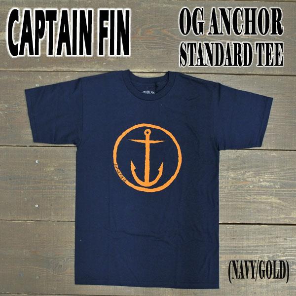 CAPTAIN FIN/キャプテンフィン OG ANCHOR STANDARD S/S TEE NAVY/GOLD メンズ Tシャツ 男性用 半袖