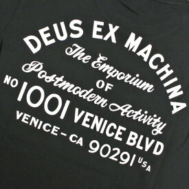 DEUSEXMACHINA/デウスエクスマキナVENICEADDRESSTEEBLACKS/S半袖Tシャツ541065A