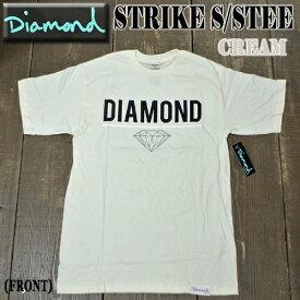 値下げしました!DIAMOND/ダイヤモンド STRIKE S/S TEE CREAM メンズ Tシャツ 男性用 T-shirts 半袖 ロゴ