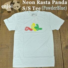 値下げしました!ENJOI/エンジョイ メンズ 半袖Tシャツ NEON RASTA PANDA S/S TEE POWDER BLUE 男性用T-SHIRTS スケートボード/スケボー/SK8_02P01Oct16