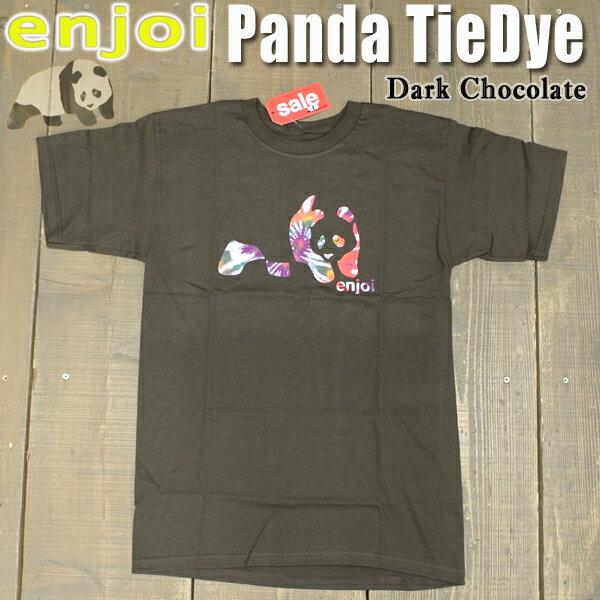 値下げしました!ENJOI/エンジョイ メンズ 半袖Tシャツ PANDA TIE DYE S/S TEE DARK CHOCOLATE 男性用T-SHIRTS スケートボード/スケボー/SK8_02P01Oct16