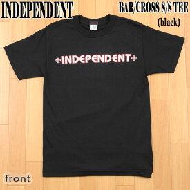 INDEPENDENT/インデペンデント BAR/CROSS S/S TEE BLACK メンズ Tシャツ 男性用_02P01Oct16