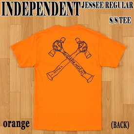 INDEPENDENT/インデペンデント JESSEE S/S TEE ORANGE メンズ Tシャツ 男性用 T-shirts 半袖 Jason Jessee コラボ