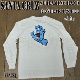 SANTA CRUZ/サンタクルズ SCREAMING HAND L/S TEE WHITE メンズ 長袖 Tシャツ 男性用 スクリーミングハンド
