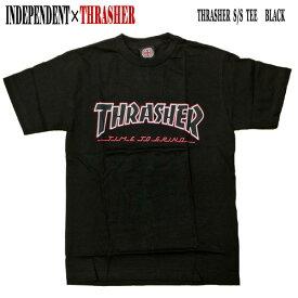 値下げしました!INDEPENDENT/インデペンデント THRASHER TTG S/S TEE BLACK メンズ Tシャツ スラッシャーコラボ 男性用 T-shirts 半袖 丸首 MENS