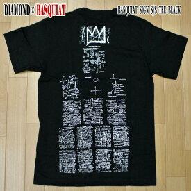 DIAMOND/ダイヤモンド BASQUIAT SIGN S/S TEE BLACK BASQUIATコラボ メンズ 半袖Tシャツ 男性用 T-shirts