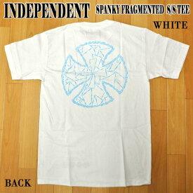 値下げしました!INDEPENDENT/インデペンデント SPANKY FRAGMENTED S/S TEE WHITE KEVIN SPANKY LONGコラボ メンズ Tシャツ 男性用 T-shirts 半袖 丸首 MENS 44153844