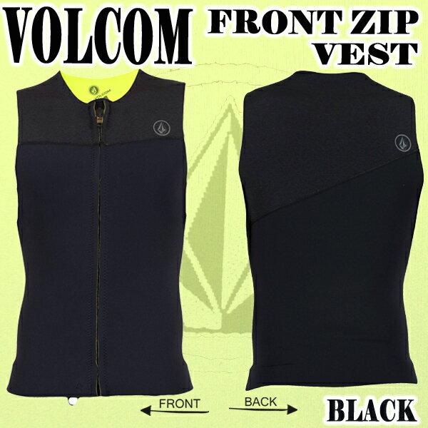 VOLCOM/ボルコム メンズ ウェットベスト FRONT ZIP VEST BLK 男性用サーフィン用ウェットスーツ送料無料_02P01Oct16