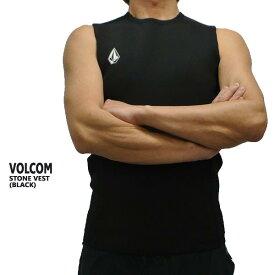 VOLCOM/ボルコム STONE VEST JACKET BLACK メンズ ベスト タッパー 男性用サーフィン用ウェットスーツ 送料無料!!