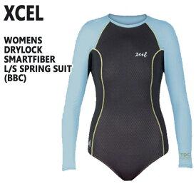 値下げしました!XCEL/エクセル DRYLOCK SMARTFIBER L/S SPRINGSUIT BBC レディース用 バックジップ 女性用 ボディスーツ 水着