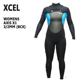 値下げしました!レディース用XCEL/エクセル AXIS X1 ウェットスーツ 3/2mm BCK 送料無料チェストジップ 女性用_02P01Oct16