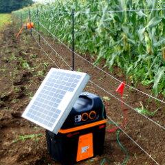 ソーラーで内蔵したバッテリーに自動的に充電