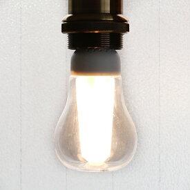 LED電球デコフィラメント ホームライト60 7.4W(一般電球60W相当以上)電球色 口金E26調光非対応