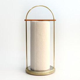 FUTAGAMI 真鍮の生活用品真鍮鋳肌のキッチンペーパーホルダー大