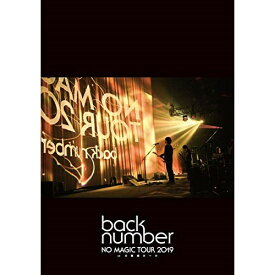 DVD/NO MAGIC TOUR 2019 at 大阪城ホール (通常盤)/back number/UMBK-1290 [3/25発売]