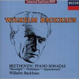 CD/ベートーヴェン:3大ピアノ・ソナタ Vol.1(月光)(悲愴)(熱情) (限定盤)/ヴィルヘルム・バックハウス/UCCD-9177