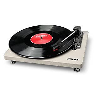 【お取り寄せ】IONAudioCompactLP革張りレコードプレーヤー音源デジタル化Cream