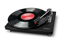 【お取り寄せ】IONAudioCompactLP革張りレコードプレーヤー音源デジタル化Black