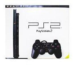 【中古】PS2ハード プレイステーション2本体 チャコールブラック(SCPH-70000CB)