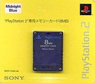 【中古】PS2ハード PlayStation 2専用メモリーカード (8MB) ミッドナイト・ブルー