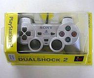 【中古】PS2ハード アナログコントローラ (DUAL SHOCK2) サテン・シルバー