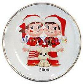 【中古】皿・茶碗(キャラクター) ペコちゃん&ポコちゃん クリスマスプレート2006 「ペコちゃん」【タイムセール】