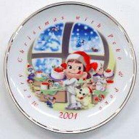 【中古】皿・茶碗(キャラクター) ペコちゃん(サンタの国のケーキ工房) クリスマスプレート2001 「ペコちゃん」【タイムセール】