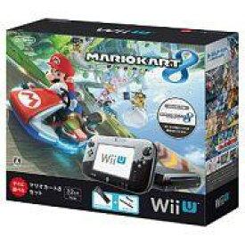 【中古】WiiUハード WiiU本体 マリオカート8セット kuro