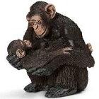【中古】フィギュア チンパンジー(メスと仔) 「Schleich-シュライヒ-」 No.14679