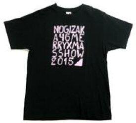 【中古】Tシャツ(女性アイドル) 乃木坂46 Tシャツ ブラック×ピンク Lサイズ 「乃木坂46 Merry X'mas Show 2015」