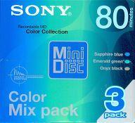 【中古】MDディスク 録音用ミニディスク Color Mix Pack 80分 3PACK [3MDW80CRLGB]