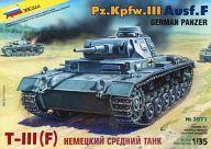 【中古】プラモデル 1/35 Pz.Kpfw.III Ausf.F GERMAN PANZER -III号戦車F型- [3571]
