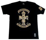 【新品】Tシャツ(キャラクター) ソルジャーチームスカル Tシャツ ブラック Mサイズ 「キン肉マンマッスルアパレル×CORAZON」