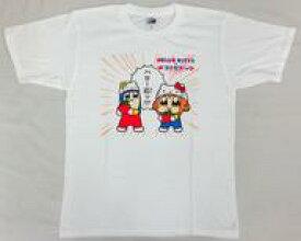 【中古】Tシャツ(キャラクター) ポプテピピック×ハローキティ ハロー応ッTシャツ ホワイト Mフリーサイズ 「ポプテピピック×サンリオキャラクターズ」 C92グッズ