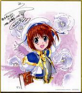 【中古】紙製品(キャラクター) 八神はやて 描き下ろしミニ色紙 「魔法少女リリカルなのは Reflection」 4週目入場者プレゼント